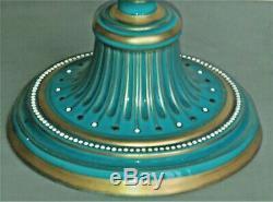Pair of Fine Sevres Neo Classical Bleu Celeste Porcelain Hand Painted Vases