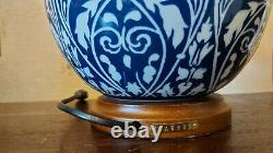 Pair of Ralph Lauren Chinese Hand Painted Floral Porcelain Ginger Jar Lamps Rare