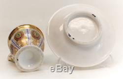 Paris Porcelain Sevres Style Hand Painted Cup & Saucer, 19th Century