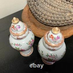Porcelaine de Paris Hand Painted Asian Style Ginger Jars Urns Artist Mark France