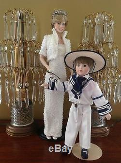 Princess Diana Franklin Mint Prince William Danbury Mint Porcelain Hand Painted
