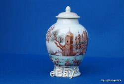 RARE 1750 Chinese EUROPEAN TEAPOY QIANLONG QING export vase teapot armorial