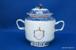 RARE 1790 Chinese crest SUCRIER QIANLONG QING export vase teapot armorial