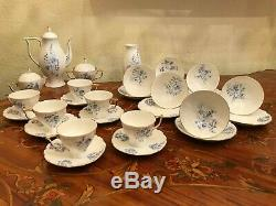 RARE Vintage Jiesia Handpainted Porcelain 6 Cup 6 Saucer Coffee Set