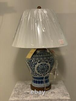 Ralph Lauren Alston Tea Porcelain Table Lamp Hand Painted Blue