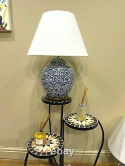 Ralph Lauren Home Floral Porcelain Ginger Jar Lamp Large Rare Hand painted MW1