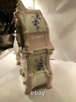 Rare Ansonia La Bretagne Antique Hand Painted Porcelain Clock- Royal Bonn