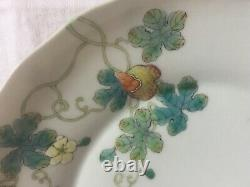 Rare Fine Chinese Daoguang Mark & Period Fencai Saucer Dish Bitter Melon 19cm
