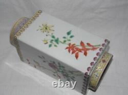 Rare Fine Chinese Republic Period Famille Rose Fencai CONG Vase Birds & Flowers