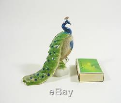Rosenthal, Peafowl, Peacock Bird 3, Handpainted Porcelain Figurine