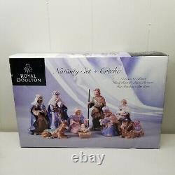 Royal Doulton Nativity 10 Pc Set Christmas Holiday Hand Painted Fine Porcelain