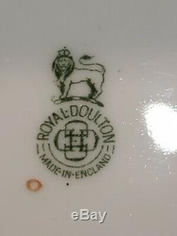 Royal Doulton Plates Hand Painted Gold Antique Porcelain England 1924 H2506 Rare