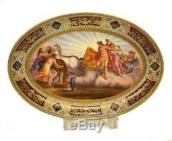 Royal Vienna Hand Painted Porcelain Oval Tray or Bowl, Apollo, circa 1900