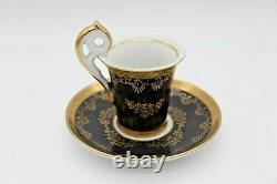 Royal Vienna Hand Painted Porcelain Tea Cup & Saucer Gold 11/276 Courting Couple
