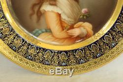 Royal Vienna Porcelain Duchess Of Devonshire Portrait Cabinet Plate Hand Painted