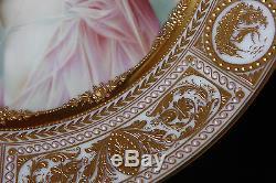 Royal Vienna Porcelain Nude Woman Portrait Cabinet Plate 100% Hand Painted