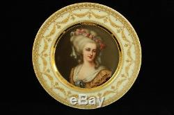 Royal Vienna Porcelain Princess Lamballe Portrait Cabinet Plate All Hand Painted