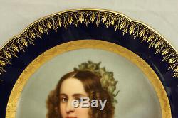 Royal Vienna Porcelain Stieler Alexandra Amalie Portrait Plate 100% Hand Painted