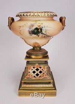 Royal Worcester Blush Porcelain Hand Painted Urn