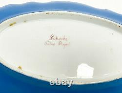 Sevres Style Hand Painted Porcelain Oval Dish, 19th Century