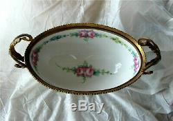 Sevres Vase Porcelain Hand Painted Gilded Bronze Ormolu 1850's Signed A. Gilbert