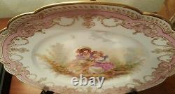 Sevres hand painted porcelain Cabinet Display Plate, Louis Philippe