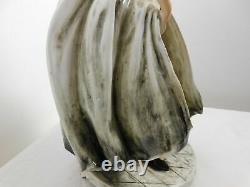 Signed CAPODIMONTE Ceramic Porcelain Figurine Vintage Italy Handpainted 12X 7