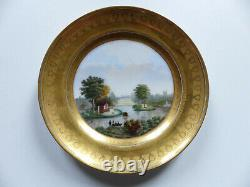 Superb Antique Hand Painted Paris Vienna Porcelain Plate Signed & Dated 1831 #1
