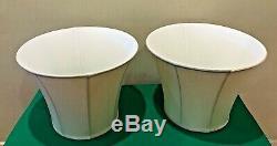 VTG Wildwood Pair Crackle Porcelain Asian Jar Vase Table Lamp Hand Painted 28