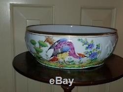 Vintage Bailey Banks Biddle Hand Painted Chelsea Bird Porcelain Bowl 9 3/8