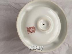 Vintage Fantastic Porcelain Noritake Red Wreath Hand Painted Luster Ashtray