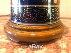 Vintage Pair Imari Japanese Porcelain Jar Table Lamp Hand Painted Floral Motif