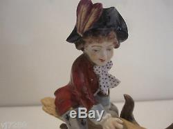 Volkstedt German Hand Painted Porcelain Figurine